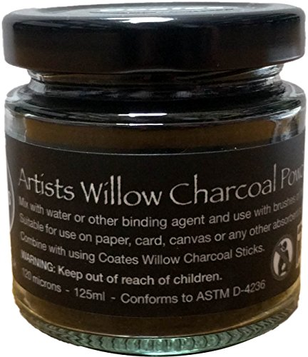 Charcoal Powder - 125ml Glass Jar