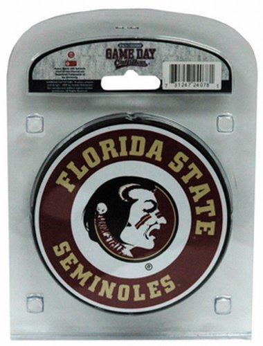 NCAA Florida State Seminoles Coaster Set with Team Logo (Pack of 4) Team Coasters