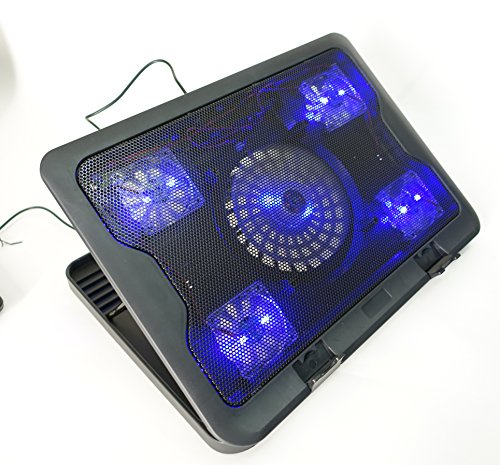 LapWorks Air Lift, Cooling Notebook Riser with Blue LED Fan(s) (5 Fans)