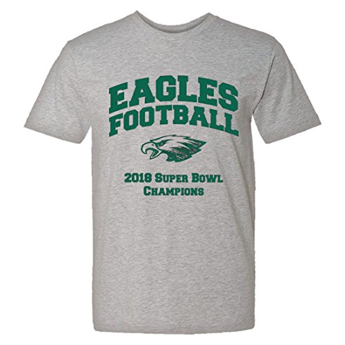 Mens/Unisex Eagles 2018 Superbowl Champions Soft HQ Tee Grey (XL)