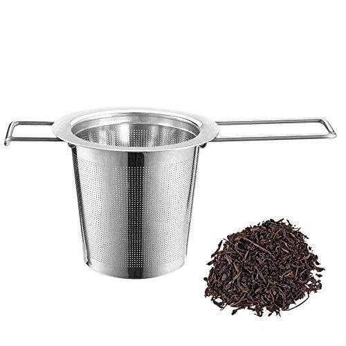 iLoveCos Teesieb Edelstahl Teefilter für Tee-Schalen Tassen und Töpfe hochtwetiges Tee-Ei für Loseblatt
