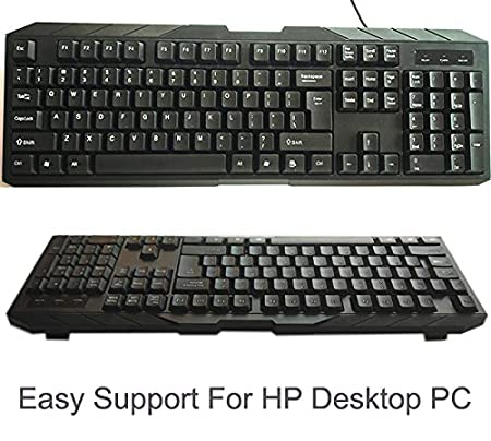 SMM Wired Multimedia USB Keyboard Compatible for HP Desktop PC  Black  Keyboards