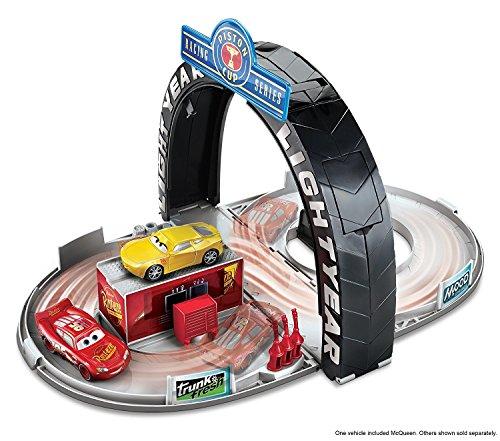 Cup Piston Mcqueen (Disney Pixar Cars 3 Lightning McQueen Piston Cup Portable Playset)