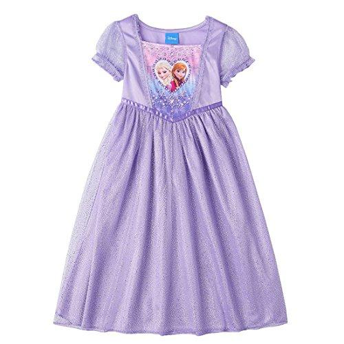 Disney Frozen Little Girl Dress Up Night Gown Pajama 4T Purple (Disney Frozen Gowns)
