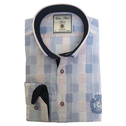 Cotton Park - chemise 'Bellevue' Bleu - Homme