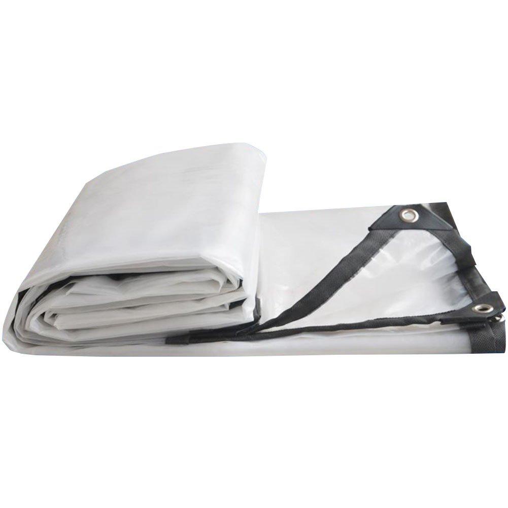 Z-Peng Bu 厚い透明プラスチックシートターポリンターポリン防水シートの雨の雨の雨の布の断熱布 ++ (サイズ さいず : 5x5m) 5x5m  B07JX7D35X
