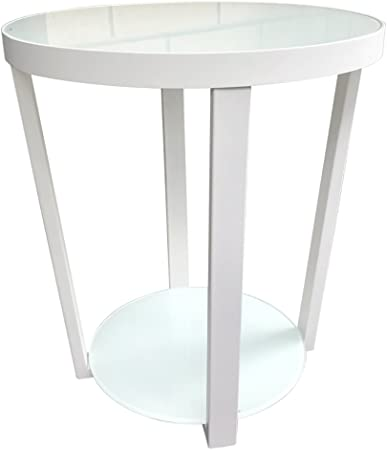 Hongsezhuozi Tables Table Basse En Verre Verre Petite Table Ronde