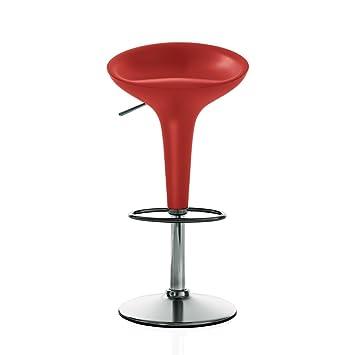 Magis - Bombo Barhocker, höhenverstellbar, rot: Amazon.de: Küche ...