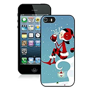 Individualization Iphone 5S Protective Case Merry Christmas iPhone 5 5S TPU Case 34 Black
