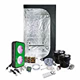 LED Grow Light Amazon Special Grow Pack by HTG - 2 x 3 (36'x22'x63') Grow Tent Package With LED + DWC Hydroponic System & Advanced Nutrients