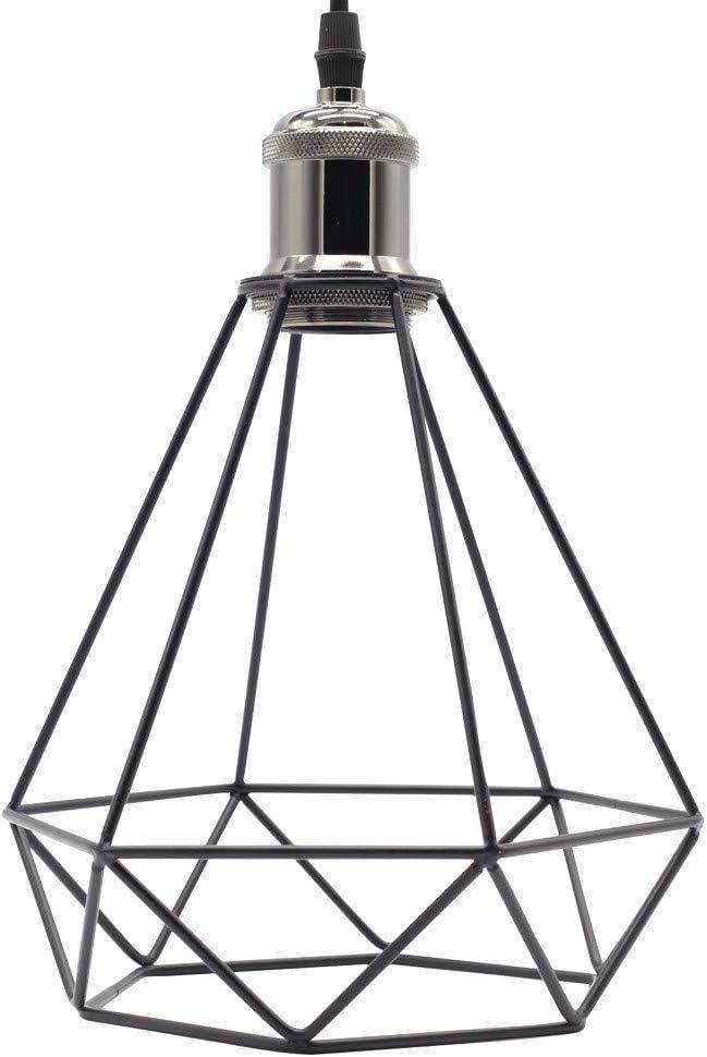 Lampe DIY Abat-jour Cage /à Oiseaux R/étro 2 Pi/èces Pied De Lampe En Fer Forg/é Cache-ampoule Edison Lustres De Lustre Abat-jour De Lustre E27