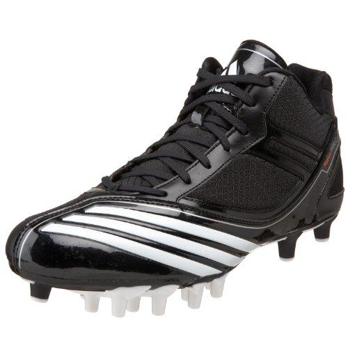 - adidas Men's Scorch Thrill Superfly Mid Football Shoe,Black/Running White/Black,10.5 D US