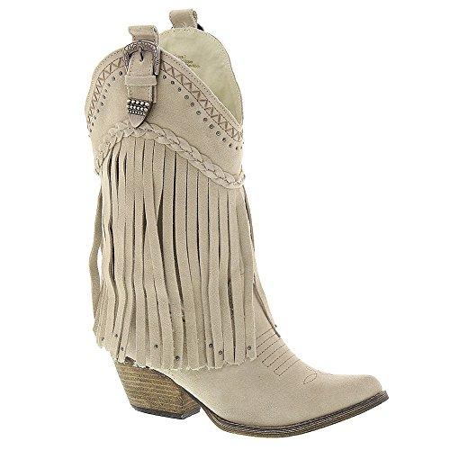 Very Volatile Women's Pasa Western Boot, Beige, 7 B US
