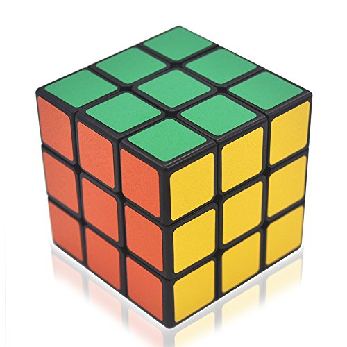 Speed Cube Puzzle 3x3, Anti-pop Magic Cube with Vivid Colors, Super-durable Structure and Smooth Play