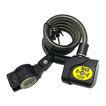 Jerome10Dan Bike Lock Alta Seguridad 110dB Alarm Lock ...