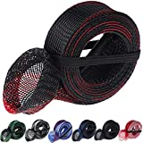 LOCOLO 7 Pieces Fishing Rod Cover Fish Sleeve Sock Braided Mesh with Lanyard for Fly, Spinning, Casting, Sea Fishing Rod