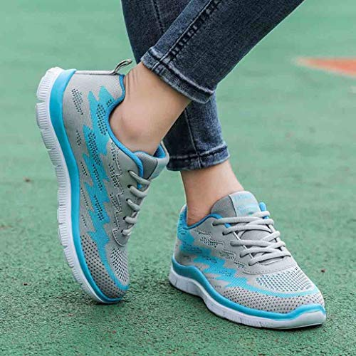 Deportivos Volar Tejer Moda Zapatos Calzado Para Yvelands Caminar Pisos Al Liquidación Libre Azul Aire Mujeres Casual fw6qqtH
