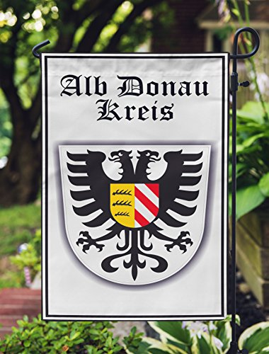 Alb Donau Coat Of Arms Germany Double Sided Garden Flag 12x19 Inches