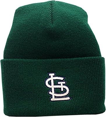 St. Louis Cardinals Knit Hat Cuffed Logo Block Green 11806
