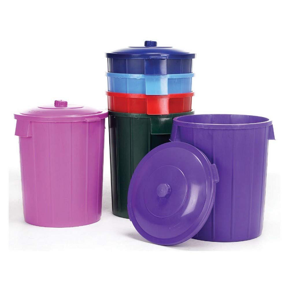Lincoln Dustbin And Lid (14 gallons) (Purple) by Lincoln Electric