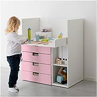 IKEA STUVA - Cambio de mesa con 4 cajones blanco / rosa 2 Pack ...
