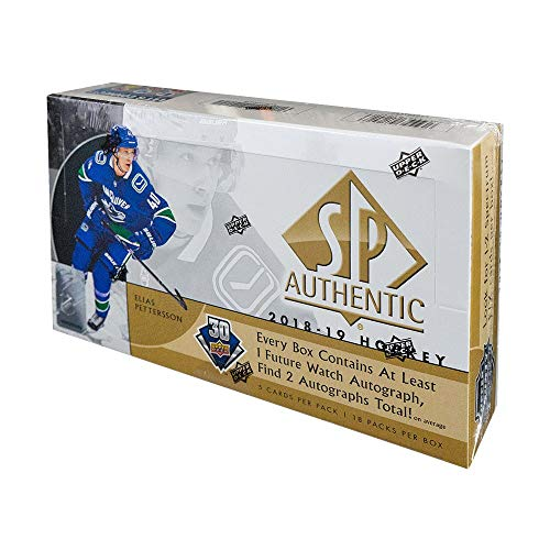 2018-19 Upper Deck SP Authentic Hockey Hobby Box