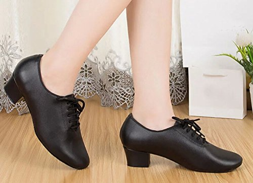 Miyoopark ,  Damen Tanzschuhe , schwarz - Black-4cm heel - Größe: 35