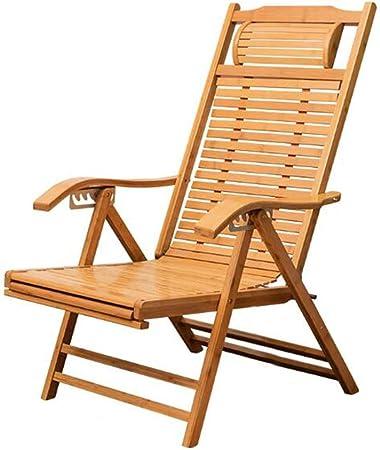 YQQ Sofa Paresseux Chaise Longue Pliante Inclinable Bambou