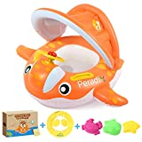 Peradix Baby Spring Pool Float with Canopy Sunshade, Whale Theme Infants Water Toys