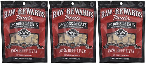 (3 Pack) Northwest Naturals Raw Rewards Freeze Dried Liver Treats, Beef, 3 Ounces Each