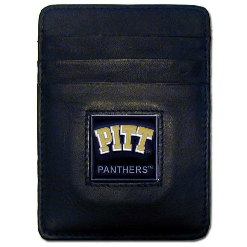 NCAA Pittsburgh Panthers Leather Money Clip/Cardholder Wallet