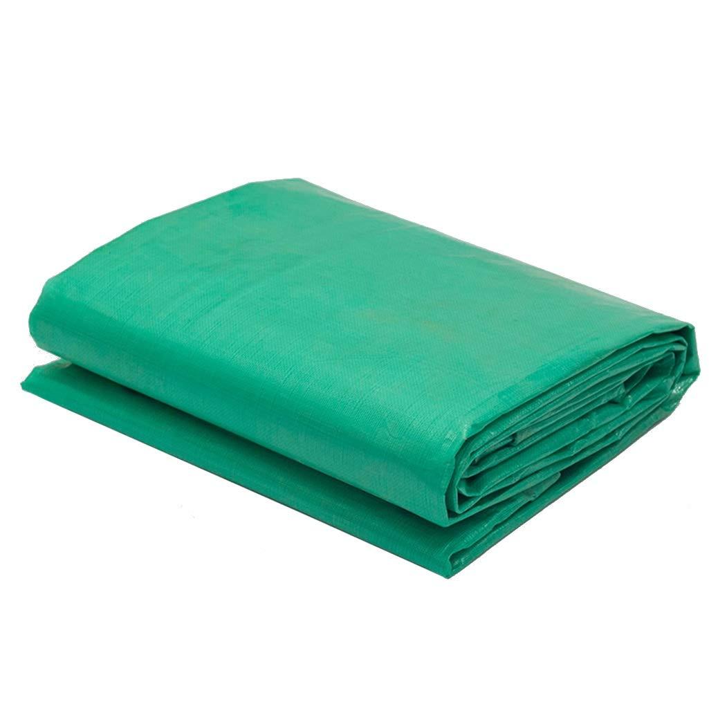 YUBU Panno impermeabile imbottito verde, parasole impermeabile in plastica Parasole impermeabile Parasole elettrico a tre ruote Telo impermeabile Panno protettivo solare Telo parasole, Peso 180 g   m2