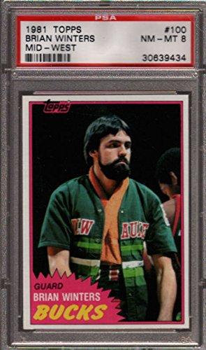 1981 Topps Mid West  100 Brian Winters Bucks Psa 8 K2499550 434
