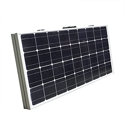 ECO LLC Portable 12V 200W Monocrystalline Folding Solar Panel Kit for Car Motorboat RV
