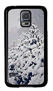 Winter Tree Covered With Snow Theme Samsung Galaxy i9600 S5 Case