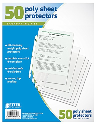 Better Office Sheet Protectors, 50 Pack ()