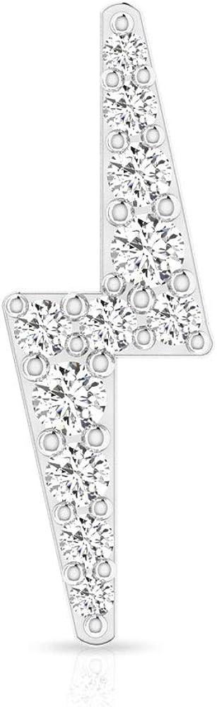 Pendientes de iluminación minimalista, con certificado SGL de 0,19 ct de diamante, pequeños pendientes de cartílago, joyería corporal, Body Jewellery, Única pieza, 14K Oro