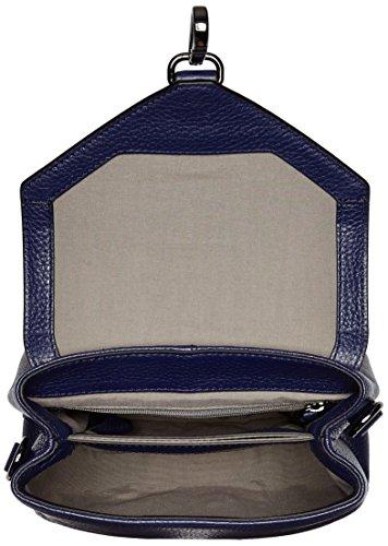 Ecco Isan, Bolso Bandolera para Mujer, Azul (Blau (90582), 18x15x9 cm (B x H x T)