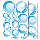 Wandkings wall stickers Bubbles Sticker Set - 32 stickers on 2 US letter sheets