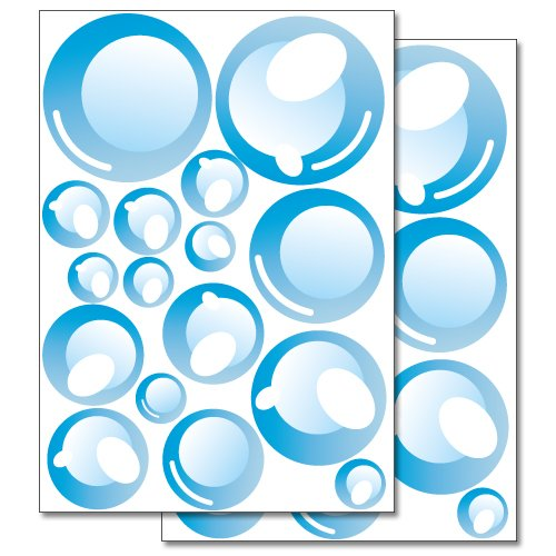 Wandkings wall stickers Bubbles Sticker Set – 32 stickers on 2 US letter sheets (Bubble Decals)