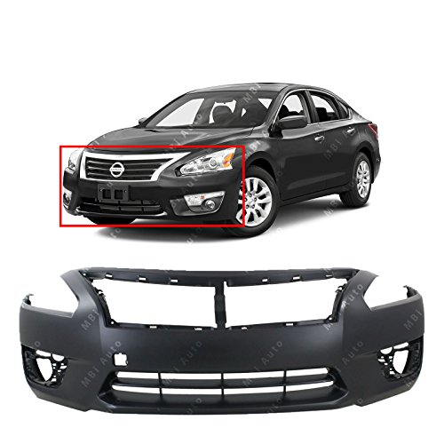 MBI AUTO – Primered, Front Bumper Cover Fascia for 2013 2014 2015 Nissan Altima Sedan 13-15, NI1000285