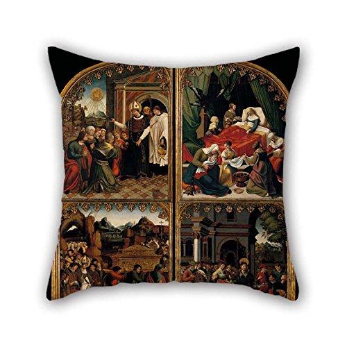 The Oil Painting Pedro Nunyes - Doors De El Altarpiece De Saint Eligius Amortiguador Cubiertas De 18 X 18 Inches / 45 Por 45...