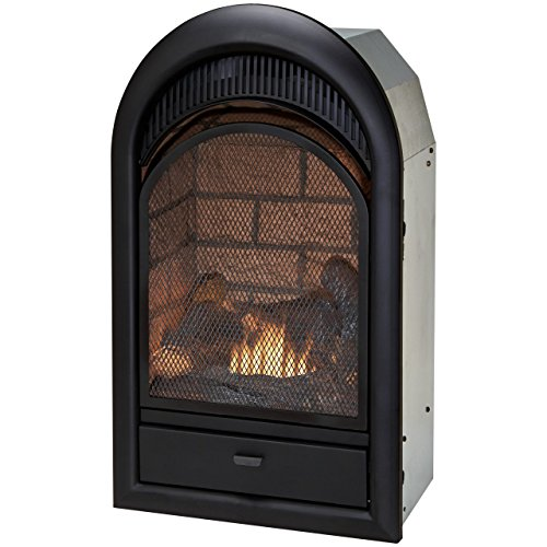 Fireplace Brick Liner - Duluth Forge Dual Fuel Vent Free Fireplace Insert - 15,000 BTU, T-Stat, Brick Liner