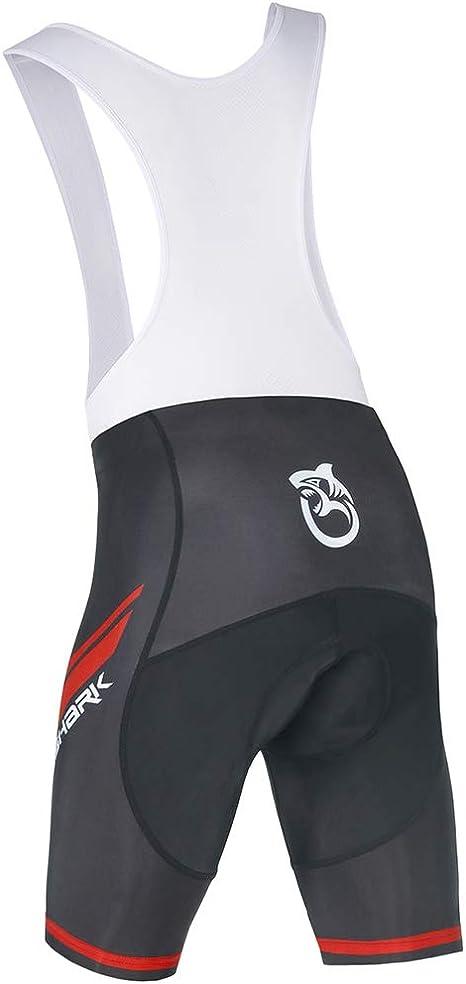 Queshark Short Cycliste Homme Cuissard V/élo 5D Gel Rembourr/és Calecon VTT sous-v/êtement Respirant S/échage Rapide L/éger Noir