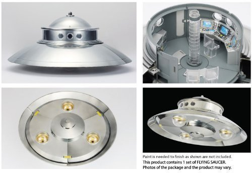 1/48 Flying Saucers Model Kit NS-01 Adamski Type [UFO Diameter 200mm (7.87inch) : Height 90mm (Flying Type)