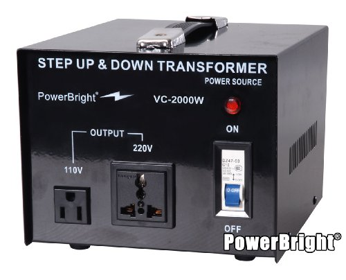 Power Bright VC2000W Voltage Transformer 2000 Watt Step Up/D
