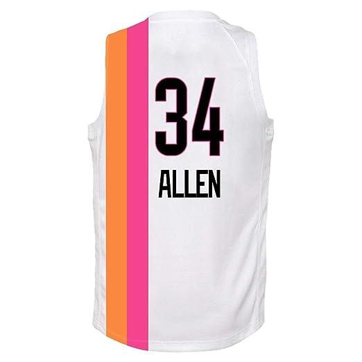NBALL-HU Jersey De Baloncesto Allen # 34 para Hombre - Camiseta De ...