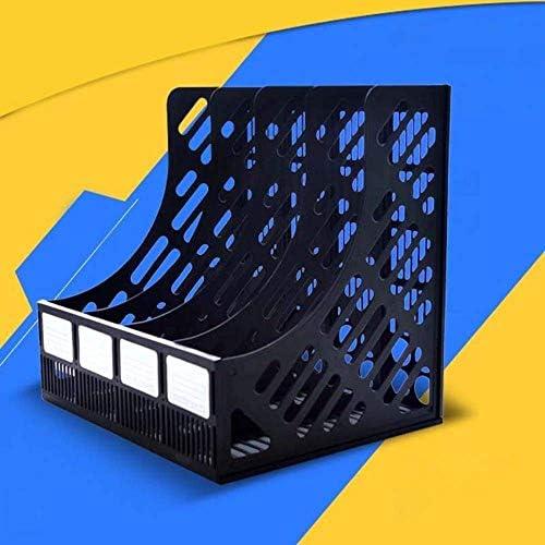 AGWa Zeitungsständer, Desk File Organizer, 4 Abschnitte Mesh Files Shelf Desktop File Rack Papierbuchhalter Document Tray Organizer Aufbewahrungsbox Schulbürobedarf, Schwarz,Schwarz