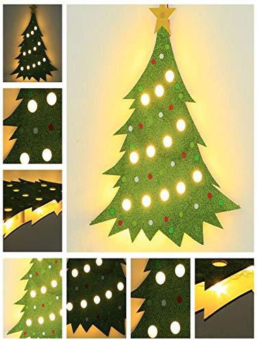 ef4d6a61461 Glumes Indoor Outdoor Hanging Christmas Wooden Sign LED Light Up Xmas Santa  Tree Penguin Elk