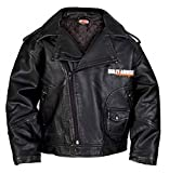 Harley-Davidson Baby Boys' Upwing Eagle Biker Pleather Jacket BLK 0366074 (24M)